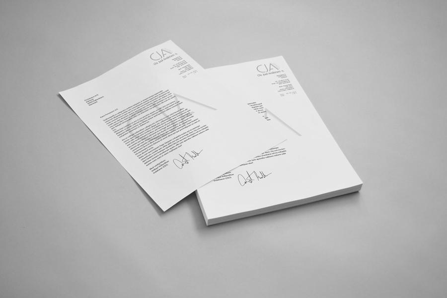 cja - brevpapir & visitkort 1