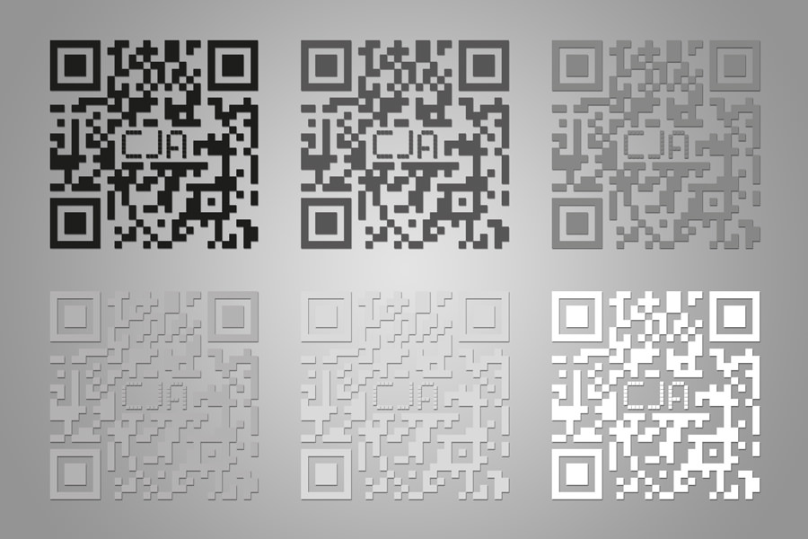 CJA - custom QR code - all together