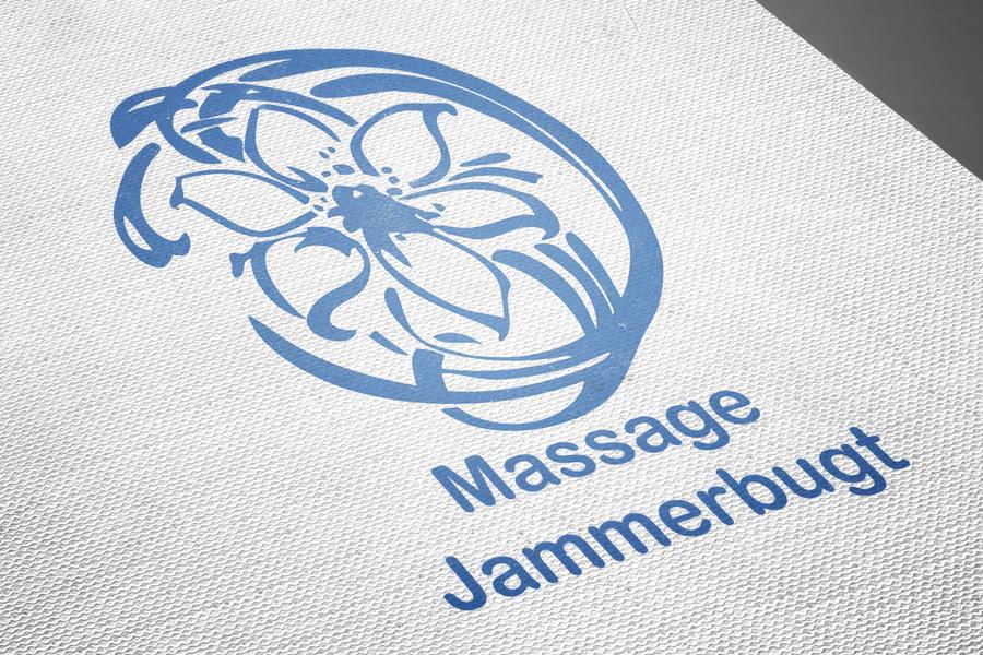 Massage Jammerbugt - rentegning af logo