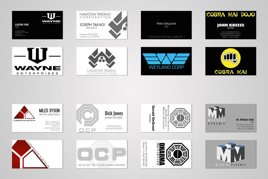 Visitkort fra virksomheder i film - all together