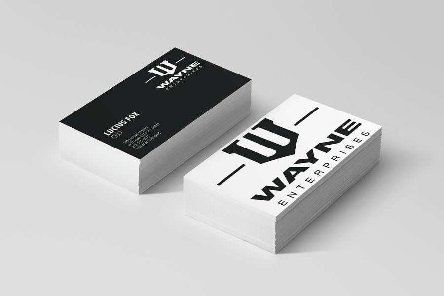 Visitkort fra virksomheder i film - Wayne Enterprises