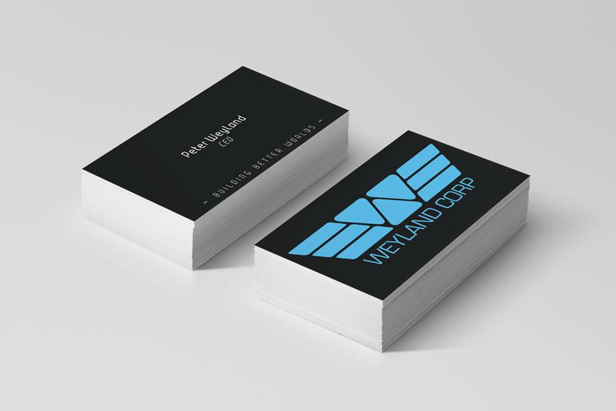 Visitkort fra virksomheder i film - Weyland Corp