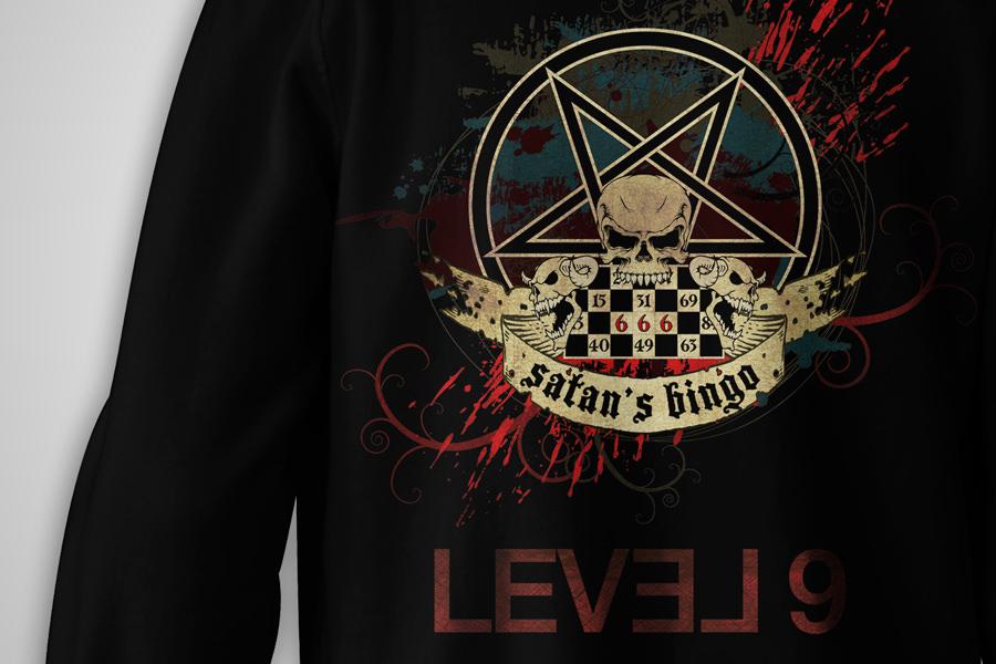 Satan's Bingo Album - hoodie closeup