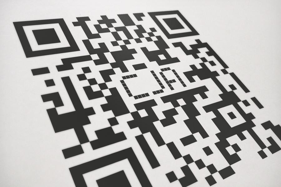 CJA - custom QR code - closeup