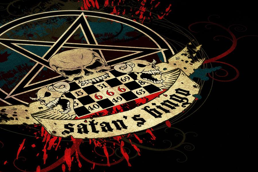 Satan's Bingo Album - logo closeup
